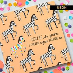 Zebras Greeting Card - Thinking of You, Thank You, Friendship