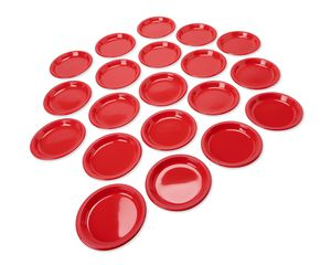 bright red plastic dinner plates 20 ct