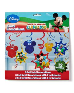 mickey mouse clubhouse swirl décor value pack 12 pieces