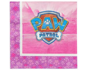 paw patrol pink lunch napkin 16 ct
