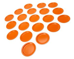 orange paper dinner plates 20 ct