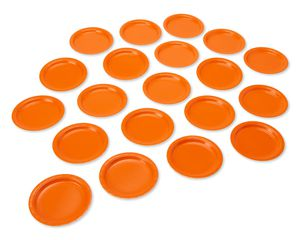 orange paper dessert plates 20 ct