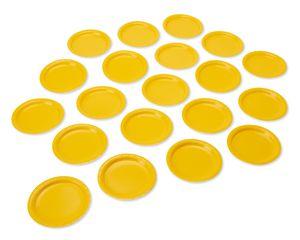 yellow paper dessert plates 20 ct