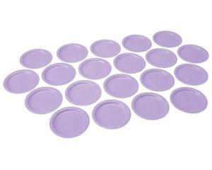 lavender dessert round plate 20 ct