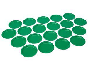 festive green dessert round plate 20 ct