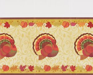 thanksgiving holiday plastic table cover, 54 in. x 102 in.