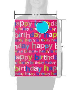 jumbo happy birthday on pink gift bag