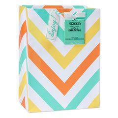 jumbo chevron stripes grab-&-go gift bag