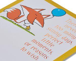 fox happy birthday card