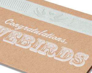 lovebirds wedding card