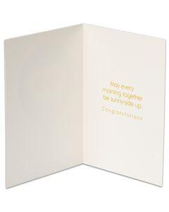funny sunny-side up wedding card