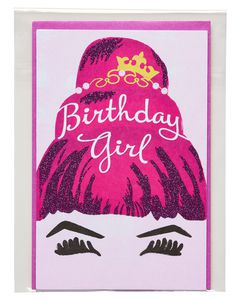 birthday girl birthday card for her