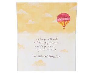 hot air balloon get well card