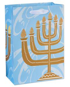 small menorah hanukkah gift bag