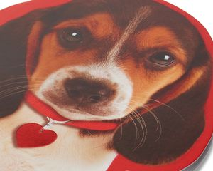 puppy valentine's day card