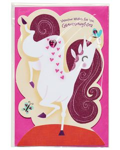 unicorn valentine's day card