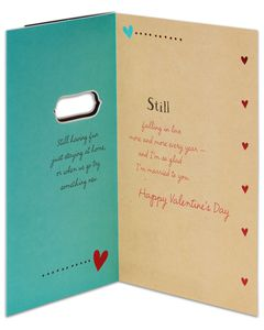 still falling in love valentine's day card