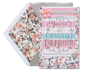 floral mother's day card for daughter