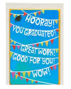 hooray graduation card