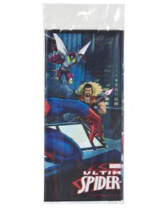 spider-man plastic table cover 54in x 96in