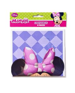 minnie mouse bow-tique treat bags 8 ct