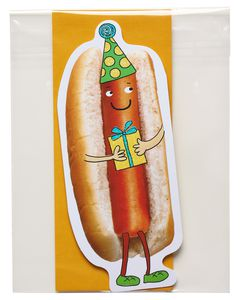 funny hot dog birthday card