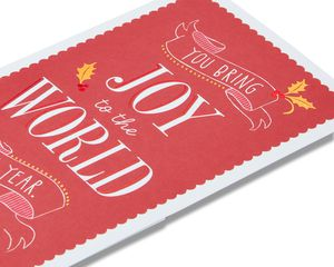 joy money and gift card holder christmas card