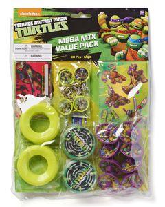teenage mutant ninja turtles party favor value pack 20 ct