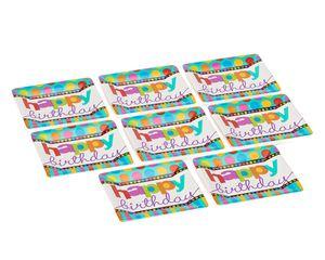 dots & stripes dessert square plates 8 ct