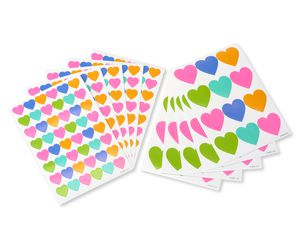 Rainbow Hearts Stickers 300-Count