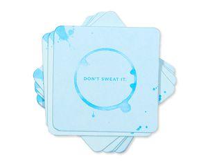 don't sweat it coasters (set of 8)