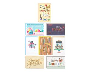 Classic Birthday Greeting Card Collection, 8-Count