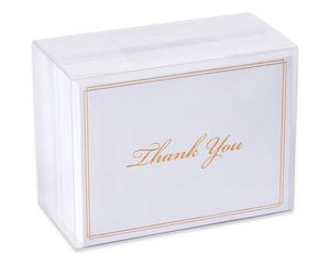Gold Script Thank-You Cards and White Envelopes, 50-Count