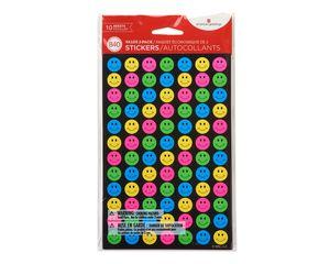Mini Neon Smiles and Stars Stickers, 840-Count