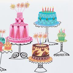 Cakes Birthday Greeting Card