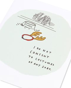 do not consent christmas card from pet