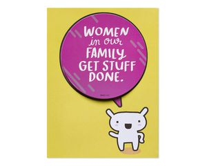 Get Stuff Done Mother's Day Card
