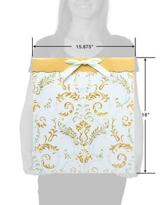 Lasting Love Jumbo Wedding Gift Bag with Gold Linen Tissue Paper, 1 Gift Bag and 4 Sheets of Tissue Paper