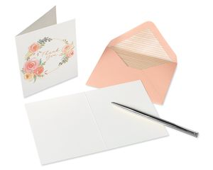Floral Blank Note Cards with Envelopes, 20-Count