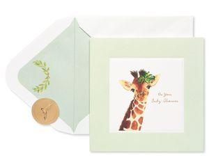 Giraffe Baby Shower Greeting Card