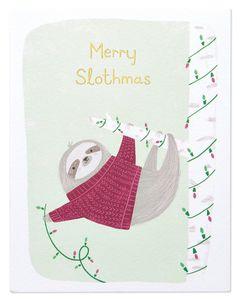 Merry Slothmas Christmas Card
