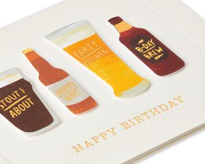 Craft Beer Birthday Greeting Card