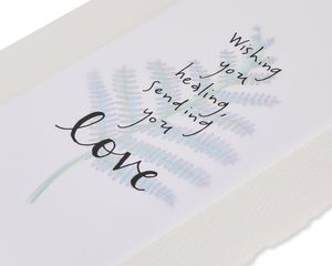 Wishing You Healing Blank Sympathy Greeting Card