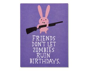 funny zombie birthday card