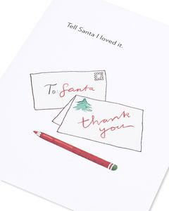 thanks, santa christmas card