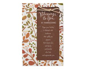 Religious Blessings Thanksgiving Card