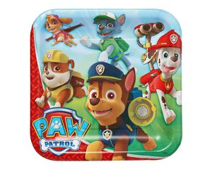 paw patrol dinner square plate 8 ct