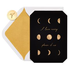 Moon Cycles Anniversary Greeting Card