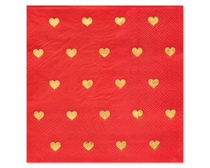 Valentine's Day Heart Lunch Napkins, 20-Count