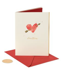 Heart and Arrow Valentine's Day Greeting Card